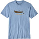 Patagonia M's Live Simply Drift Boat Responsibili-Tee Railroad Blue